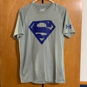 Gray/Blue Superman design Under Armour shirt